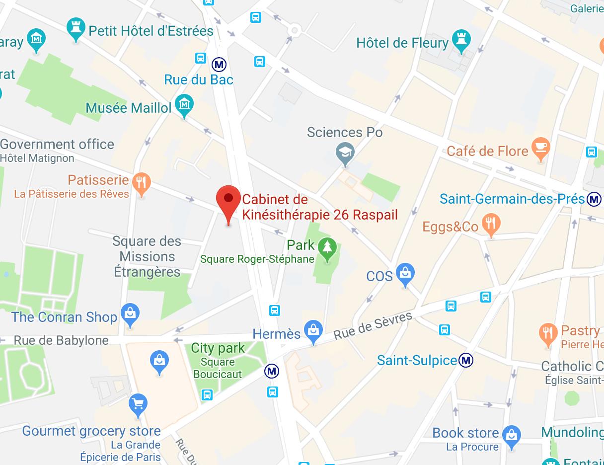 Cabinet de kine 26 Raspail Paris 7